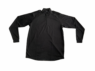 £8.95 • Buy Male Black Breathable Long Sleeve Wicking Shirt With Epaulettes Security