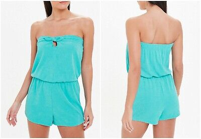 £7.99 • Buy P Matalan Bandeau Green Towelling Playsuit Beach Holiday Pool Side  (ST68)
