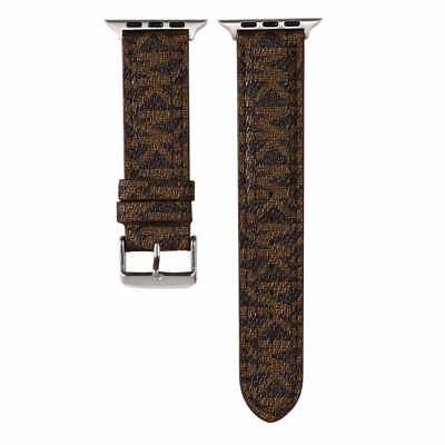 $ CDN60.54 • Buy Apple Watch MK Leather 38 40 42 44 Mm Michael Luxury Band Strap Series 1 2 3 4 5