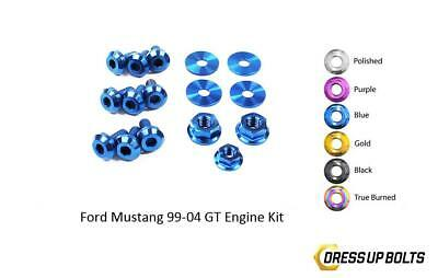 $67.49 • Buy Blue Dress Up Bolt Kit For 1999-2004 Ford Mustang GT (Engine)
