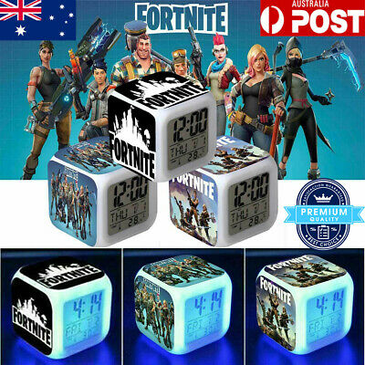 AU13.98 • Buy FORTNITE GAME Color Changing Night Light Alarm Clock Toy Game Gift For Boys Kids