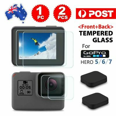 AU2.65 • Buy Tempered Screen Protector Cover Lens Cap For GoPro Hero 7 6 5 Camera Accessories