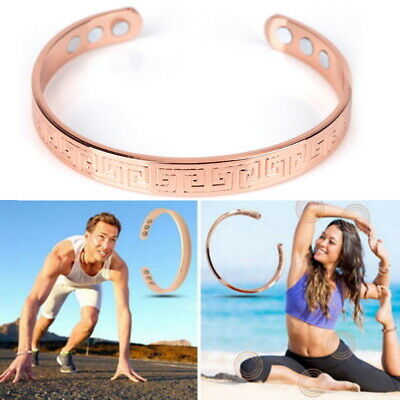 £2.99 • Buy Wristband Magnetic Therapy Bracelet Arthritis Pain Relief Copper Plated Bangle