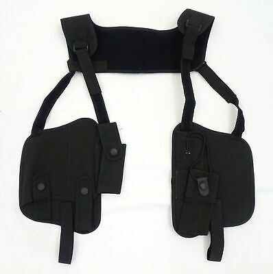 £25.95 • Buy Black Covert Harness Covert Vest With Radio Cuffs Baton And CS Gas Holder CH06