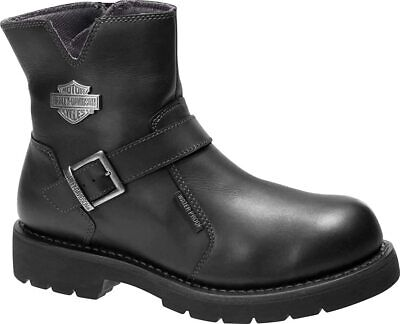 $ CDN136.77 • Buy Mens Harley Davidson Williams Riding Biker Leather Side-Zip Boots Sizes 6 To 12