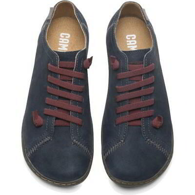 £89.99 • Buy Camper Peu Cami Womens Elastic Lace Up Grey Soft Leather Shoes Trainers Size 4-8