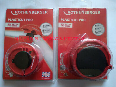 £37.99 • Buy ROTHENBERGER PLASTICUT PRO 15-22mm / 32-40-50mm PIPE CUTTER One Cutter Two Size