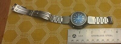 $ CDN31.23 • Buy Vintage Seiko 5 Sports Speed Timer Wrist Watch For Parts, Blue Dial Day Date