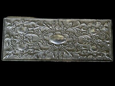 £57.34 • Buy Gorgeous Vintage Silver Jewelry Box Engraved Detailed Scroll All Over Pattern