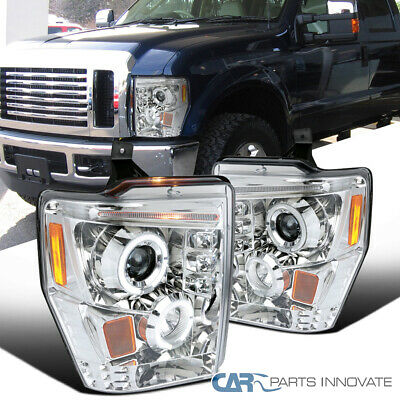 AU157.63 • Buy For 08-10 Ford F250 F350 F450 Super Duty LED Halo Projector Headlights Lamps L+R