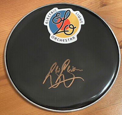 Electric Light Orchestra - Signed Autographed Drum Head, Bev Bevan, ELO • 30£