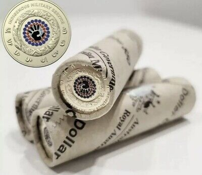 AU169 • Buy 2021 $2 Indigenous Military Service UNC Roll Two Dollar New