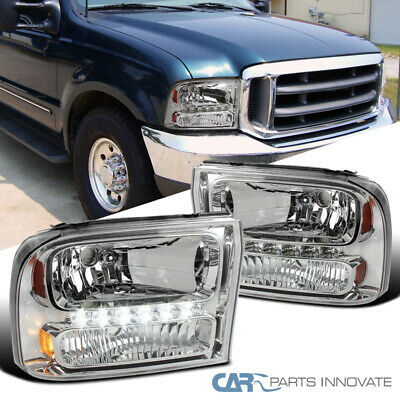 AU167.97 • Buy For Ford 99-04 F250/F350 Superduty 00-04 Excursion Clear 1PC Headlights+SMD LED