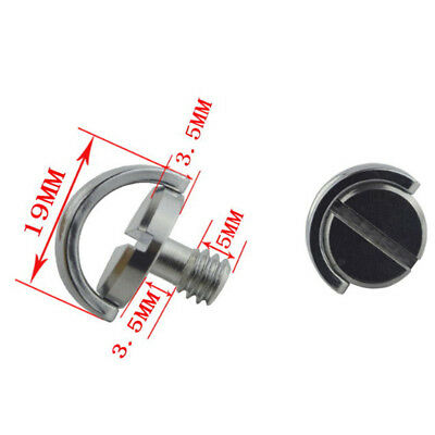 £4.76 • Buy 1/4 Screw With C Ring For Camera Tripod / Monopod / Quick Release Plate In.d OE
