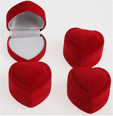 £7.82 • Buy 10 X Velvet Cover Red Heart Shaped Jewelry Box Ring Show Display Storage Gift OE