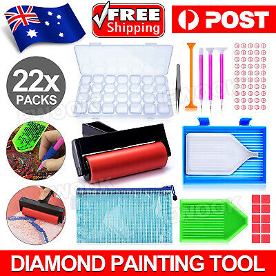 AU15.95 • Buy 22 Piece 5D Diamond Painting Tools Box Diamond Accessories Diy Art Craft Pen Set