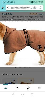 Dog Dressing Gown, Blue (Large)  • 8£
