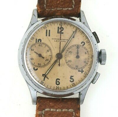 $ CDN506.65 • Buy Leonidas Vintage Chronograph Wrist Watch Runs UNRESTORED