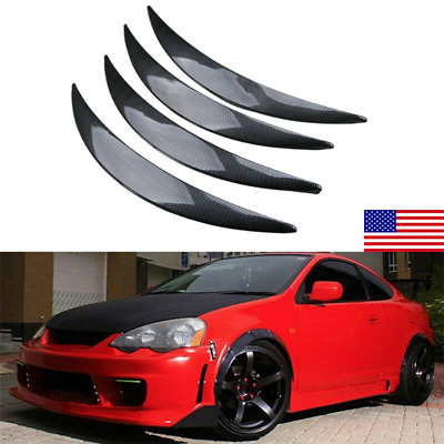 $18.99 • Buy Carbon Fiber Style Car Wheel Eyebrow Arch Trim Lips Strip Fender Flare Protector