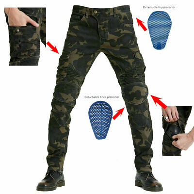 $ CDN77.69 • Buy Men's Army Camo Pants Motorcycle Jeans Trousers Drop Resistance Protective Gear