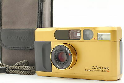 $ CDN1187.19 • Buy [Exc+5] Contax T2 Gold Point & Shoot Film Camera W/ Case From JAPAN B7