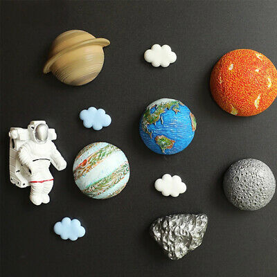 £4.22 • Buy Fridge Magnet Board Accessory Planet Refrigerator Ornament Magnetic Stickers