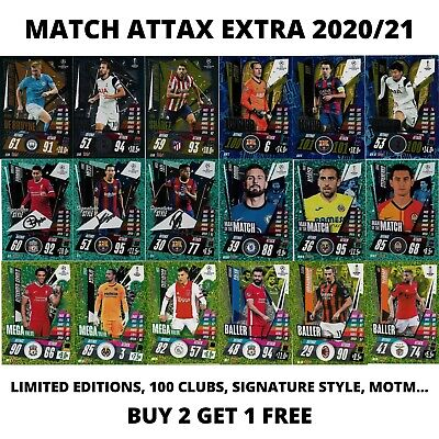£1.66 • Buy Match Attax Extra 2020/21 20/21 Limited Editions 100 Club Signature Style Motm..