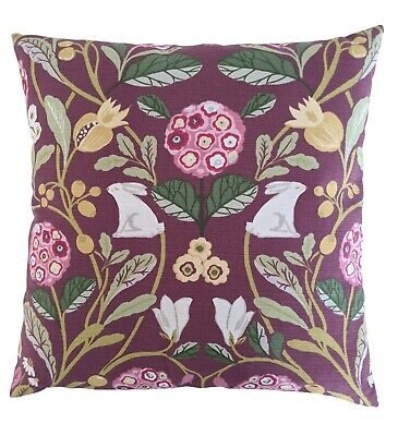 £9.99 • Buy 16  Cushion Cover In Clarke And Clarke Forrester Rabbits Mulberry Purple