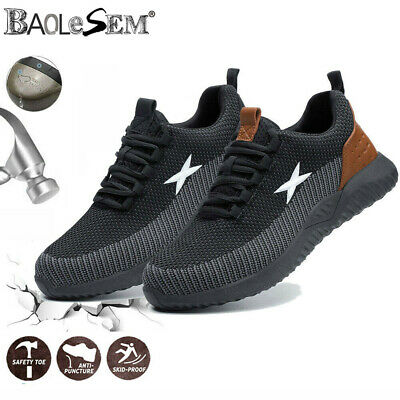 AU52.84 • Buy Mens Safety Trainers Steel Toe Cap Work Boots Men Women Lightweight Safety Shoes
