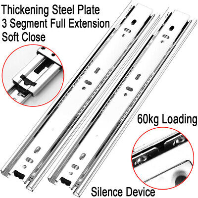 £4.99 • Buy 1 To 6 PAIRS Of Black And Brown Plastic Drawer Runners Rail For 300mm Drawers UK