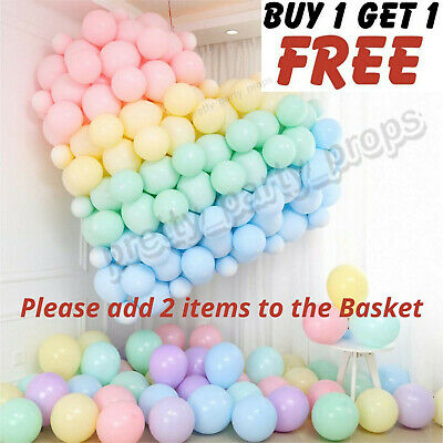 AU6.63 • Buy 5 -10 -18  Inch Quality Macaron Pastel 100pcs Balloons Candy Mix Color Party Bal