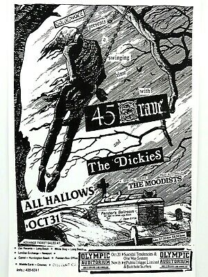 $14.95 • Buy 45 Grave And The Dickies The Olympic Auditorium Rare 1982 La Punk Concert Poster