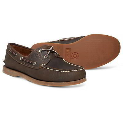 £86.99 • Buy Timberland Mens Classic Wide Fit Leather 2 Eye Lace Up Boat Deck Shoes Size 7-11