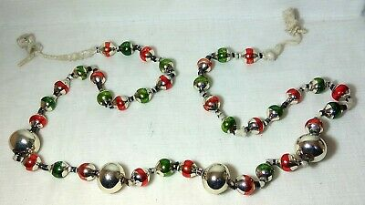 $ CDN15.62 • Buy Garland Bugle Beads OLD Vintage Christmas Glass Ornaments Soviet Toy USSR 1