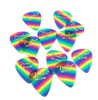 $ CDN10.79 • Buy Fender Guitar Picks 12 Pack Celluloid Medium Rainbow