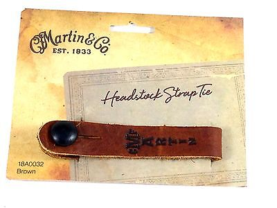$ CDN21.39 • Buy Martin Acoustic Guitar Strap Button Tie Leather Brown