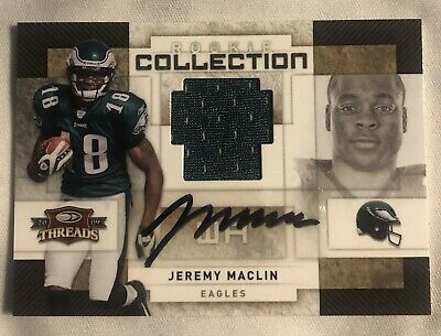 $12 • Buy Jeremy Maclin 2009 Donruss Threads #25, Rookie Collection Jersey / Auto 17/50