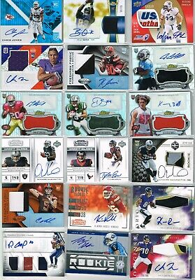 $ CDN1.24 • Buy Lot Of (50) Auto Jersey Relic Rookie RC Numbered SP Single NFL Sports Cards