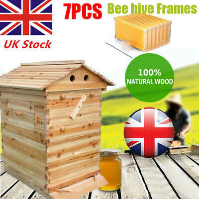£247.19 • Buy 7pcs Bee Hive Honey Frame Beekeeping Wooden Unique House Box Brood Box Upgrade