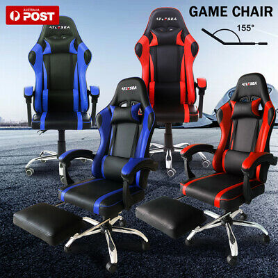 AU103.99 • Buy Gaming Chair Office Chair Computer Executive Chairs Seating Footrest Racer