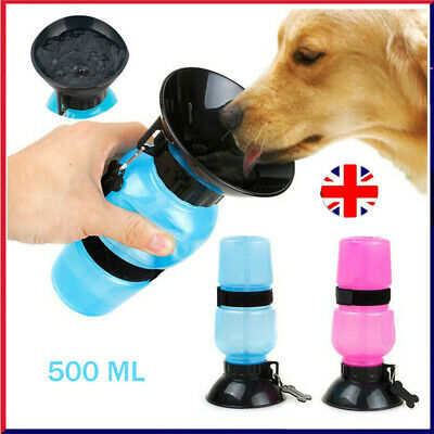 Pet Travel Water Bottle Portable Water Drink Dog Cup With Bowl Dispenser DD UK • 4.19£