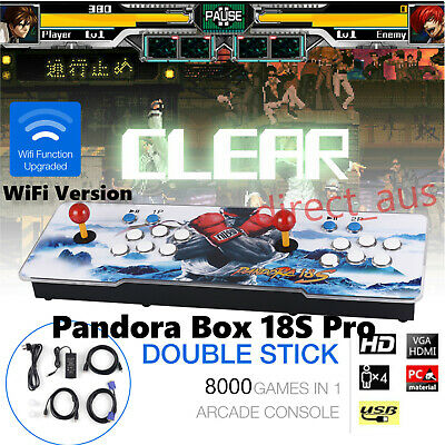 AU278 • Buy New WiFi Version Pandora Box 18S Pro 8000 Games Console HD 1280x720P HDMI 2 Play