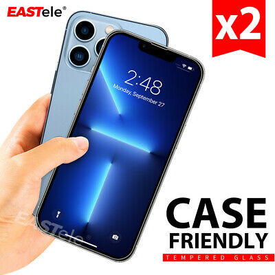 AU7.95 • Buy 2xTempered Glass Screen Protector For Apple IPhone 13 12 11 Pro XS Max XR 8 Plus