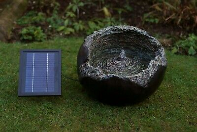 £59.99 • Buy Solar On Demand Cracked Rock Ball Water Feature - Gw277#