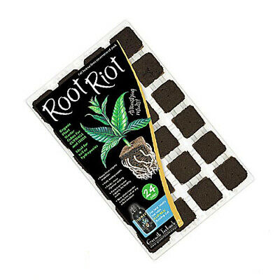 £6.99 • Buy Growth Technology Root Riot 24 Plant Starter Cubes Tray Hydroponics