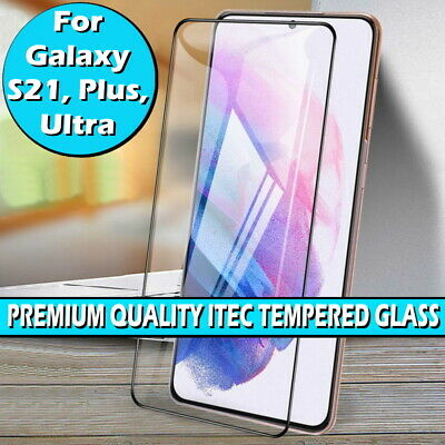 £2.99 • Buy For Samsung Galaxy S21, Plus, Ultra Full Cover Curved Tempered Screen Protector