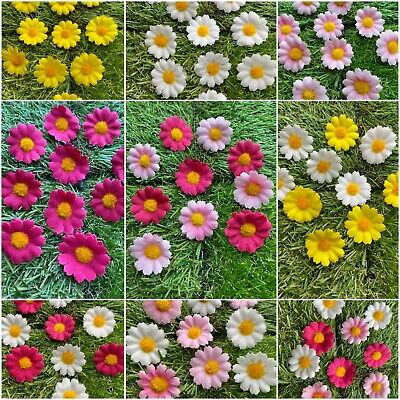£2.59 • Buy Artificial Mini 3cm Daisy Heads Flowers Easter Decorative Cake/Card Making DIY