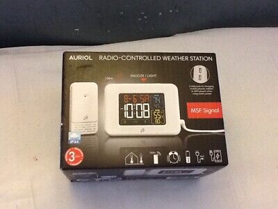 £28.99 • Buy AURIOL Wireless Radio Controlled  Weather Station Clock Time . Ref:CD_19A