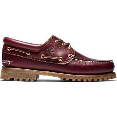 £109.99 • Buy Timberland Heritage 3 Eye Wide Fit Brown Lace Up Deck Boat Shoes Size UK 8-11