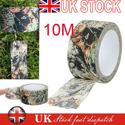 £6.63 • Buy 10m Waterproof Self Adhesive Camo Gun Hunt Camping Camouflage Stealth Tape Wrap